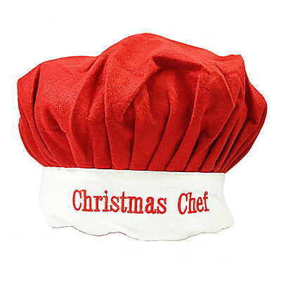 Adult Novelty Cooking Christmas Dinner Red 'Christmas Chef' Hat