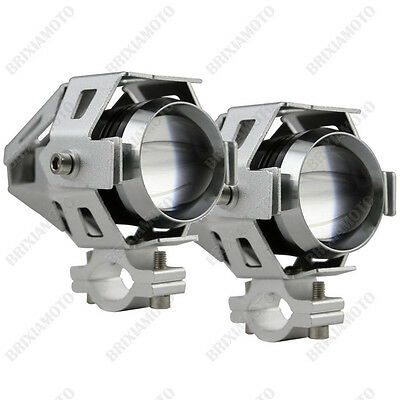 Couple Spot Lights Silver Led Cree 15W Honda Crf 1000 Africa Twin 750 650
