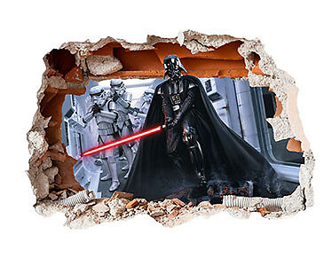 Star Wars Hole in the Wall Sticker 3D Bedroom Boys Girls Vinyl Art Decal Movie