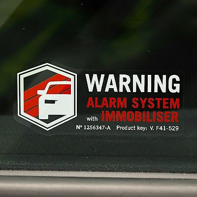 4 ALARM STICKERS Warning Decals for Car, Van,Truck Vinyl VEHICLE SECURITY