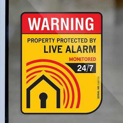 4 Home Alarm SECURITY SURVEILLANCE DECAL WINDOW DOOR STICKER Property Warning