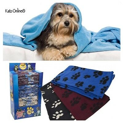 LARGE Soft Touch Fleece Pet Blanket Warm Cosy Dog Puppy Cat Travel Bed Basket