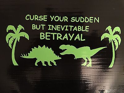 Firefly Curse Your Sudden But Inevitable Betrayal  Decal Vinyl Wall Car 6.5""