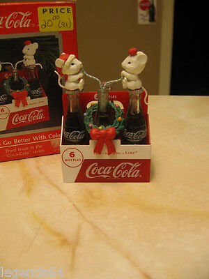 Enesco Coca Cola Ornament Things Go Better With Coke - Mice In Coke Six Pack