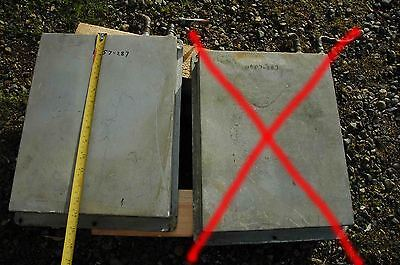11x14 INCH MARINE REFRIGERATION EVAP HOLDING PLATE zinc plated to avoid rust