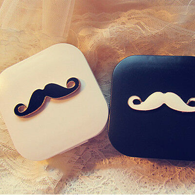 Beard Appearance Contact Lens Case Box Container Holder Interesting Cool