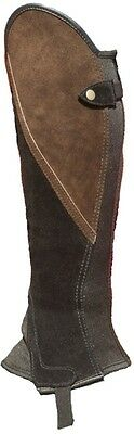 Black And Brown Suede Comfort Classic Gaiters
