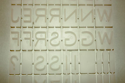 Alphabet Set, 69 Piece Letter Press, Embossing Letters, Cake Decorating,