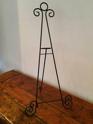 18 Inch Black Iron Easel Picture Artwork Photo Plate Stand Wedding Holder Aa-17