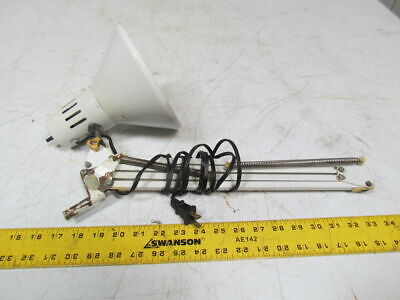 Articulating spring loaded desk work bench inspection light lamp 115VAC white