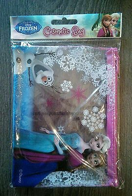 DISNEY FROZEN Zipped Cosmetic Bag - Brand New CLEARANCE