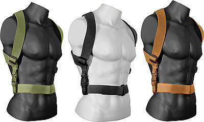 "Tactical Adjustable Combat Suspenders 2"" with Quick Release Buckles"