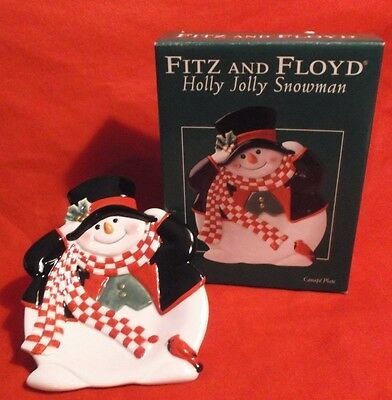 Snowmen figures christmas current 1991 now holiday for Fitz and floyd canape plate
