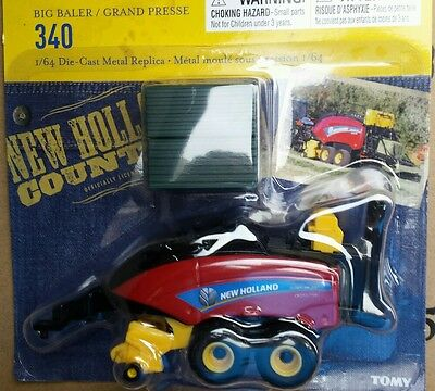New! 1/64 New Holland 340 big square inline hay baler by Ertl,  New in package