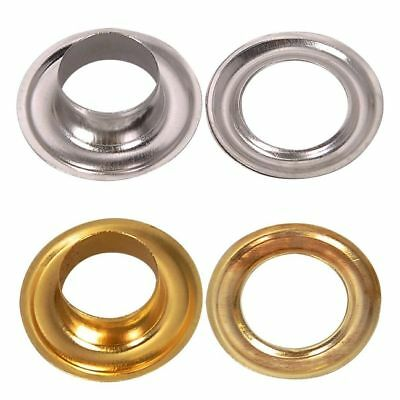 100 Large Silver or Gold Eyelets in various sizes from 9mm - 15mm - Seller