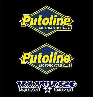 Pegatina Sticker Autocollant Adesivi Aufkleber Decal  Putoline Motorcycle Oils