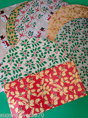 Christmas Cake Board / Card Various shapes sizes patterns Fast Despatch