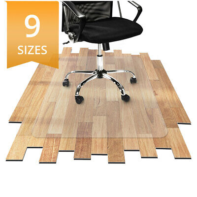 etm PVC Hard Floor Protection Office Chair Mat Non-Slip Highly Transparent Clear