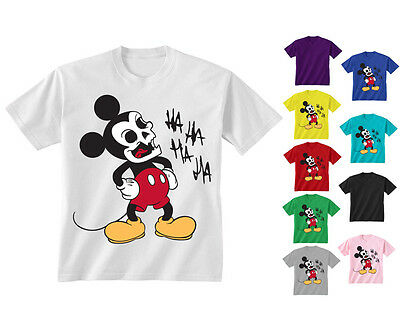 Youth Kids Childrens Evil Monster Mickey Parody Mouse T-shirt Age 5-13 Years
