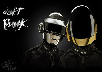 Poster A4 Plastifie-Laminated(1 Free/1 Gratuit)* Artiste Daft Punkfrench Touch.