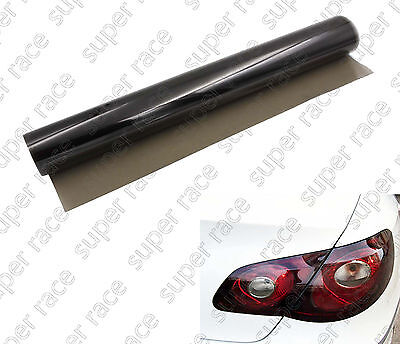 "16""x 48"" Tint Vinyl Medium Shade Smoke Film Sheet Car Headlight Protector Good"