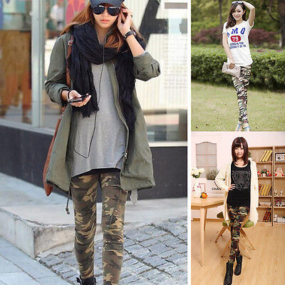 Sexy Camouflage Womens Camo Skinny Print Leggings Stretch Jeggings Pants