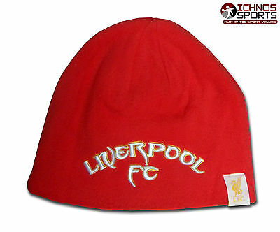 BNIB Liverpool FC Kop Warrior adult size red beanie hat soccer football
