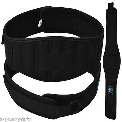 """Neoprene Weight Lifting Belt Gym Fitness Training Back Support Belts 6"""" Wide"""