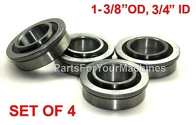 4 Flanged Sealed Bearings 3/4 X 1-3/8,For Toro, Case, Dixi, Snapper 26693, 11807