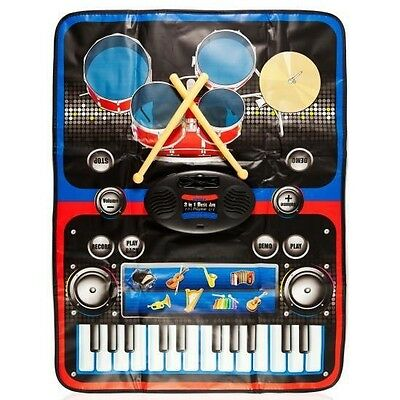 Dimple 2 in 1 Music Jam Drum and Musical Piano Play Mat DC11957