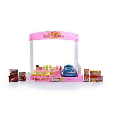 Dimple Battery Operated Play Ice Cream Shop w/ Cash Register & Play Food DC15442