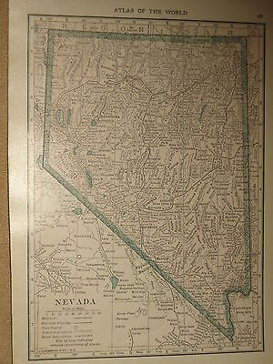 1916 Vintage  MAP NEVADA  / OREGON    FREE SHIPPING