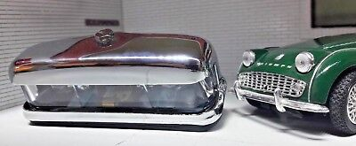 Lucas 467/2 Chrome Brass Glass numberplate light Austin Healey Triumph Morris
