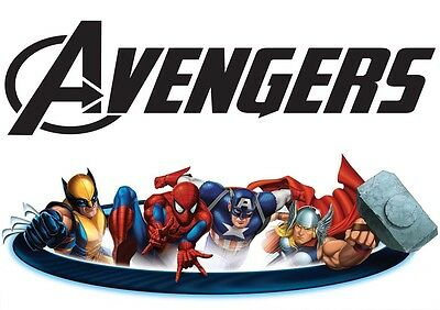 Poster A4 Plastifie-Laminated(1 Free/1 Gratuit)* Comics Film The Avengers.n°3