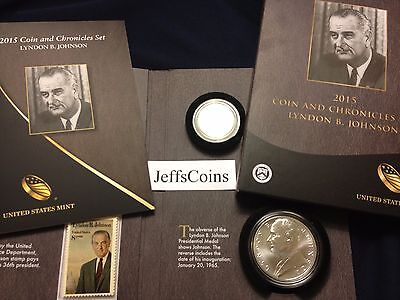 ✯ 2015 Lyndon Johnson Coin & Chronicles Set Reverse Proof AX4 Presidential B ✯