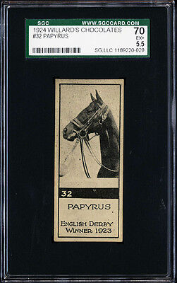 1924 V122 Williard's Chocolates #32 Papyrus Race Horse Finest Known Sgc 70 Ex+
