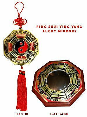 Chinese Lucky Feng Shui Mirror, Good Fortune, Wealth, Ying & Yang Gift Mirror