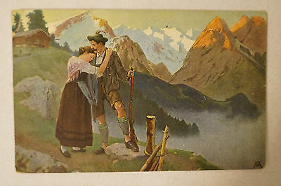 Mountain Scene - Vintage - Collectable - Postcard.