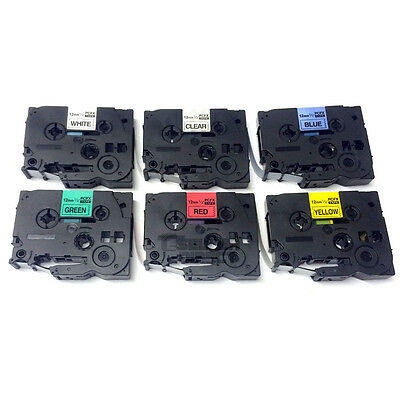 Compatible  TZ Label Tape Cartridge for Brother P-Touch Printer - 12mm x 8m