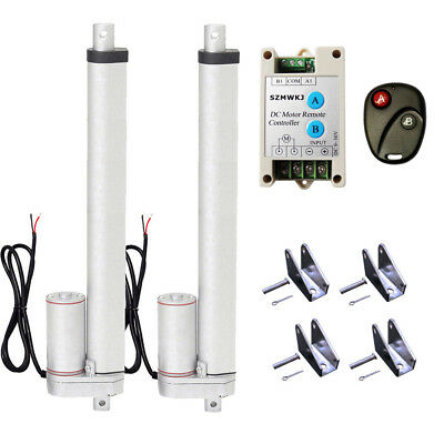 "Set of 2X 14"" Stroke 330lbs Linear Actuator &Wireless Control Kit for Car Boat"