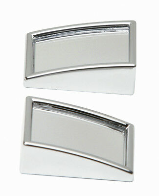 2x Car Chrome Blind Spot Mirrors Mini Convex External Rectangular 2 Pack 50x25mm