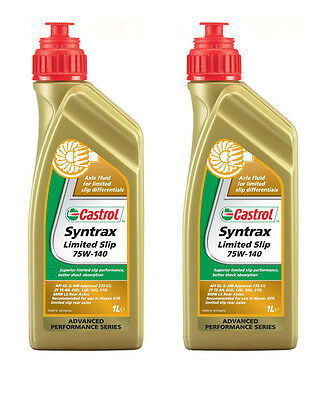 Castrol Syntrax Limited Slip 75W-140 Fluid 2 Cans 1 Litre