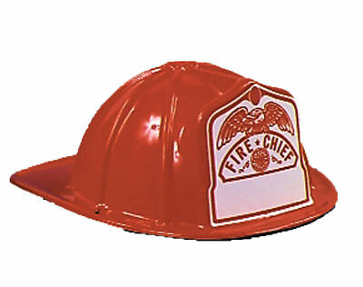Morris Costume New Plastic Traditional Fireman Child Size Hat Red One Size. GC69