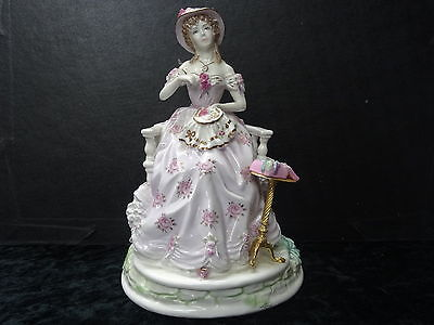 """Royal Worcester Figure """"Embroidery"""" 1996 Ltd Edition."""