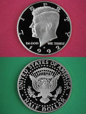 SILVER 2002 S Proof John Kennedy Half Dollar Ultra Deep Cameo Combined Shipping