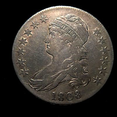 1808 Capped Bust Half Dollar XF+/AU Extremely Fine About Unc Overton Variety