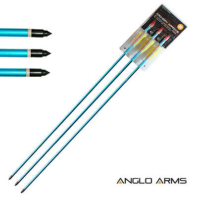 "NEW ANGLO ARMS 3x 30"" ALUMINIUM ARROWS ARCHERY TARGET SHOOTING RECURVE COMPOUND"