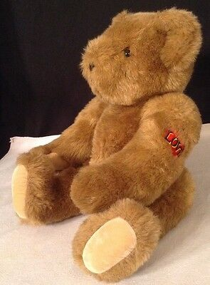 """Original Vermont Classic LOVERBOY Brown Teddy Bear Jointed 15"""" Handmade in USA"""