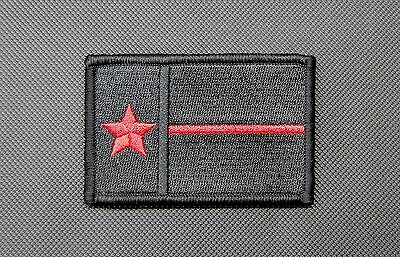 Texas Thin Red Line State Flag Patch Fire & Rescue EMT EMS Lone Star TX VELCRO®