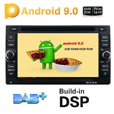 "GPS Navi 4G WiFi Double 2Din 6.2"" Android 9.0 Car Stereo DVD Radio BT DAB OBD US"